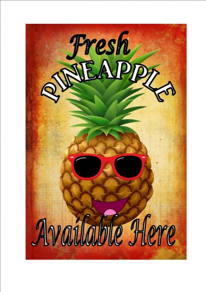 Vintage pineapple Sign