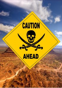 Caution Pirates Ahead Sign