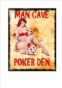 Poker Den Man Cave Novelty Sign Wall Plaque