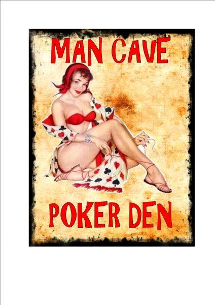 Poker Den Man Cave Novelty Sign Wall Plaque