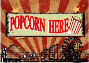 Popcorn Here Plaque