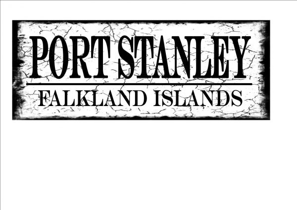 Port Stanley Falkland Island sign
