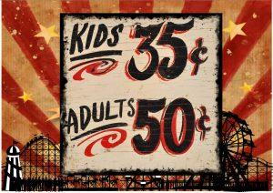 Vintage Fairground Ride Sign