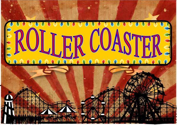 Vintage Style Roller Coaster Sign