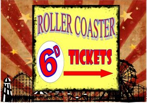 Roller Coaster Ride Sign