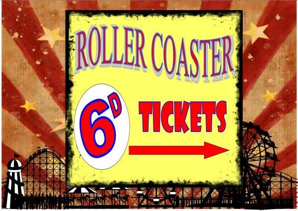 Roller Coaster Ride Sign