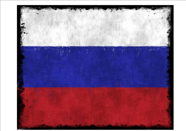 Russian Flag Sign
