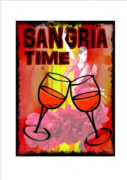 Vintage Sangria Sign