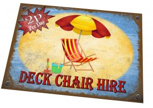 Deck Chair Hire Sign