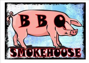 Vintage BBQ Smokehouse Sign