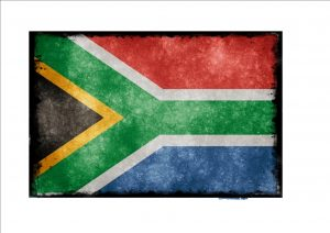 South African Aged Flag Plaque