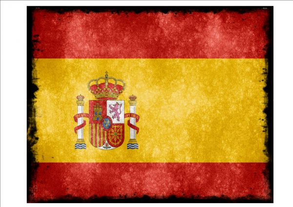 Spanish Flag Sign