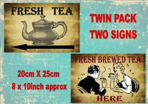 Vintage Tea Shop Tea Rooms Signs