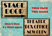 Vintage Stage Door Theatre signs