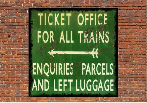 Railway Station Ticket Office Sign