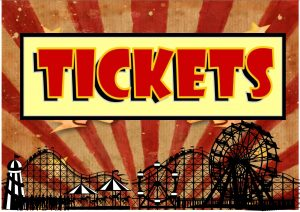 Carnival Fairground Tickets Sign