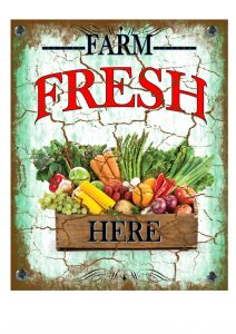 Farm Fresh Vegetables Sign